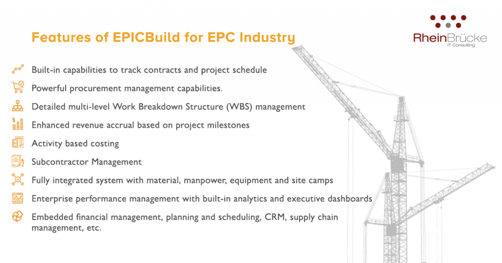 ERP For EPC Industry Features